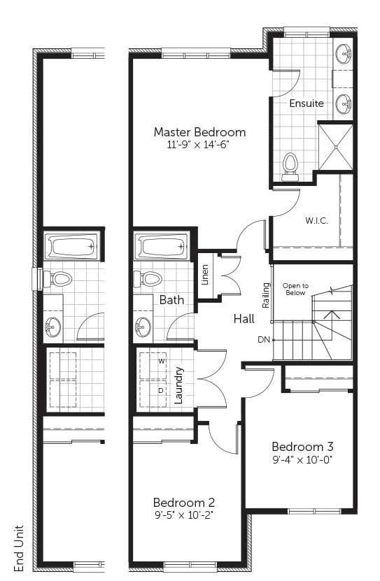 Claridge Homes Fraser Second Floor Townhomes Floor Plans
