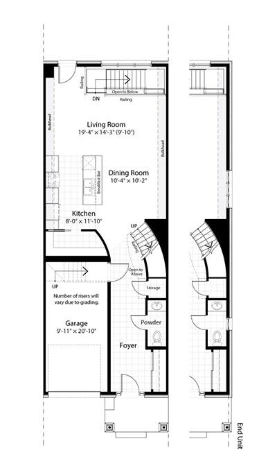 Claridge Homes Huron Ground Floor Townhomes Floor Plans