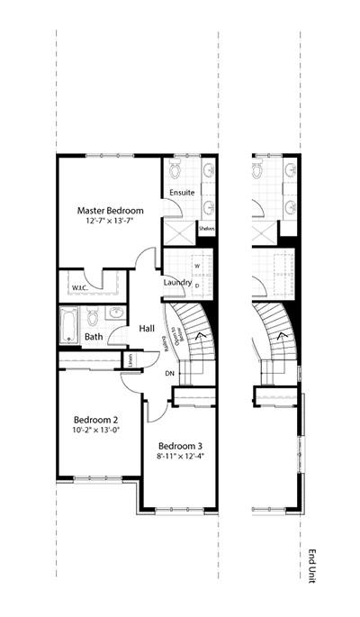 Claridge Homes Huron Second Floor Townhomes Floor Plans