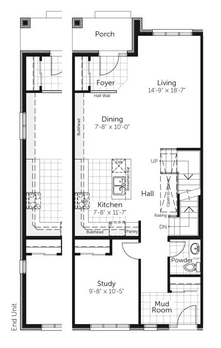 Claridge Homes Mackenzie Ground Floor Townhomes Floor Plans