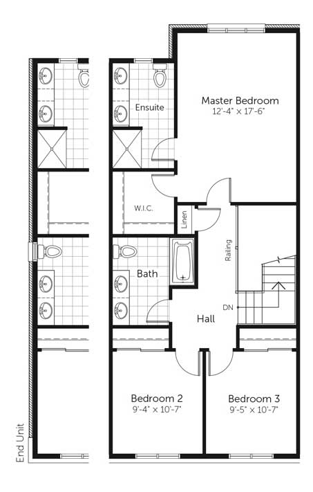 Claridge Homes Mackenzie Second Floor Townhomes Floor Plans