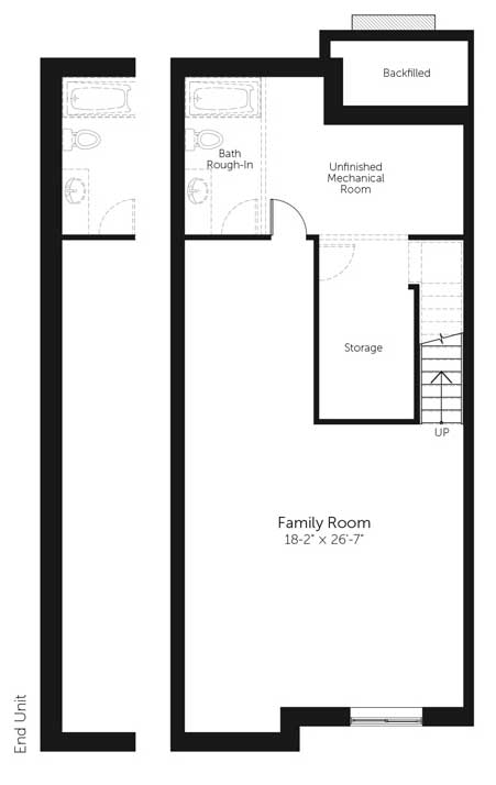Claridge Homes Nelson Basement Townhomes Floor Plans