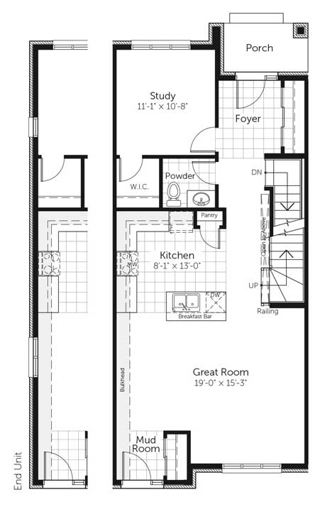 Claridge Homes Nelson Ground Floor Townhomes Floor Plans