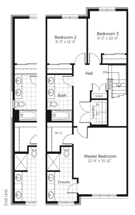 Claridge Homes Nelson Second Floor Townhomes Floor Plans