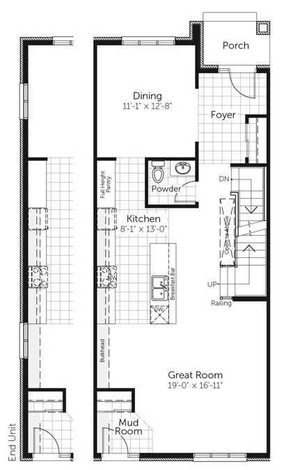 Claridge Homes Yukon Ground Floor Townhomes Floor Plans