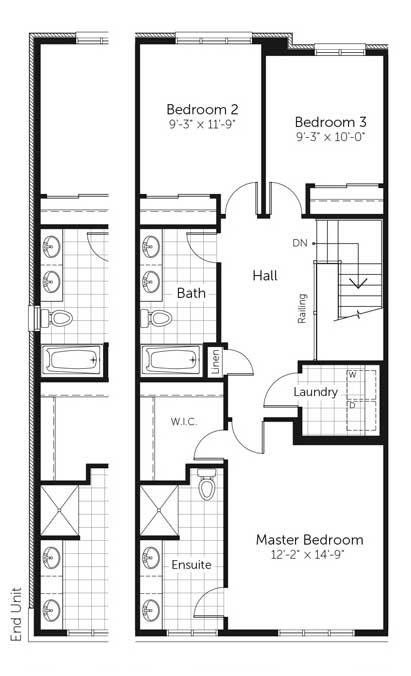 Claridge Homes Yukon Second Floor Townhomes Floor Plans