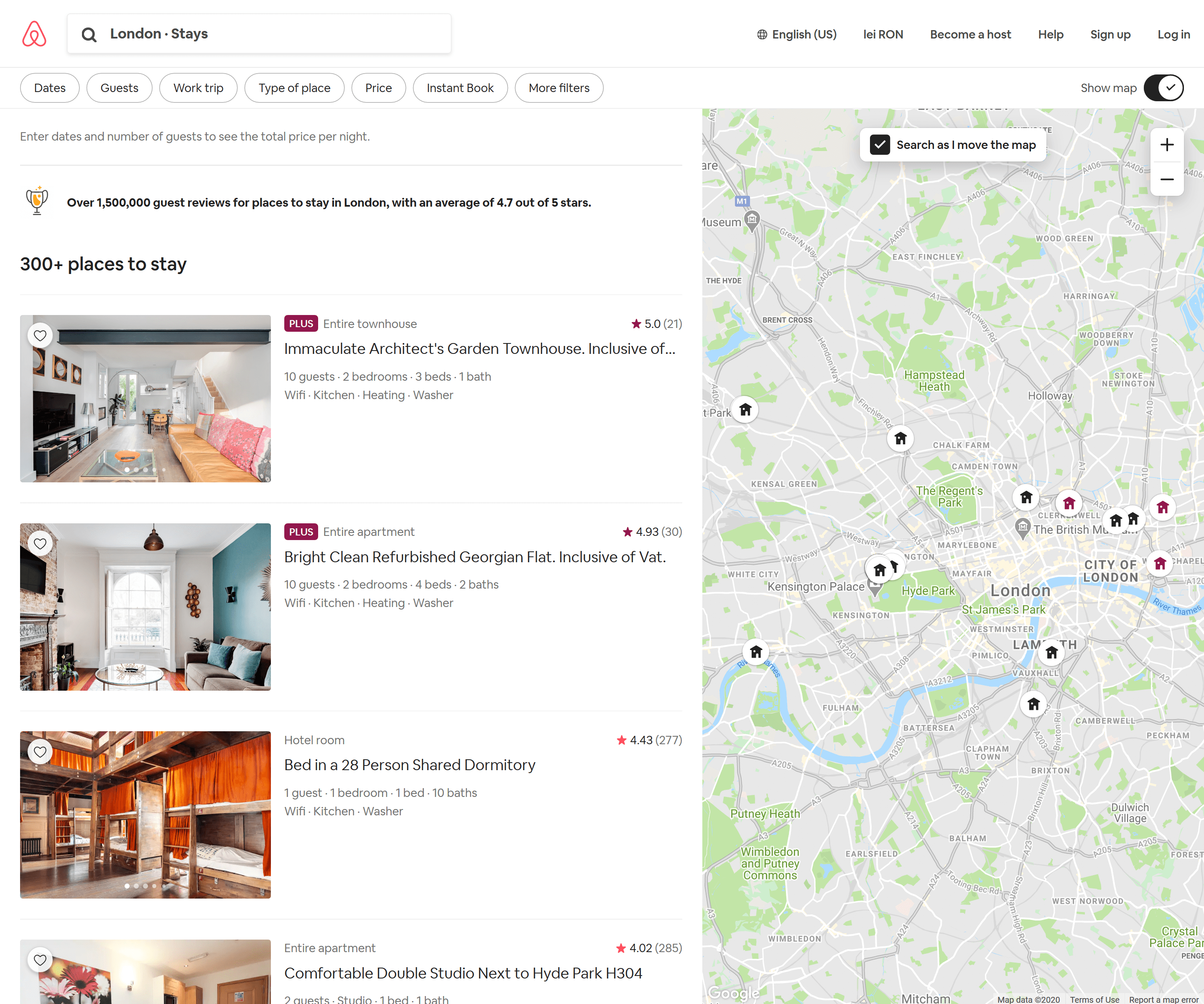 airbnb recommendations