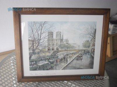 N. 3 Quadri con vedute di Parigi..