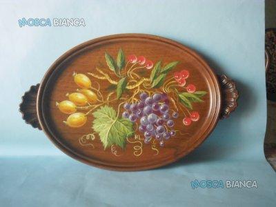 Vassoio in legno con pittura.  (Idea regalo)