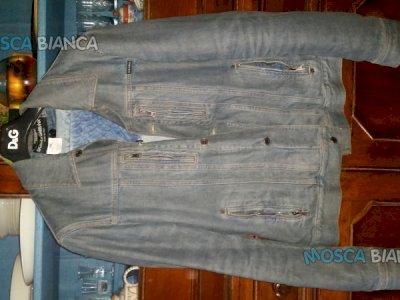 Giubbotto Dolce e Gabbana jeans e pelliccia estraibile