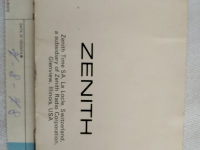 Orologio Zenith Espada El Primero