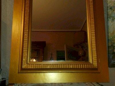 Specchio  legno cornice con doratura