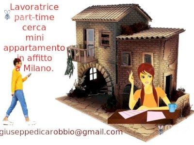 Lavoratrice part-time cerca miniappartamento in affitto a Milano.