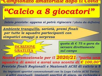 Campionato amatoriale di calcio a 8 in Torino e Pinerolo