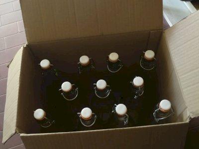 bottiglie da lt.1 In vetro con tappo a chiusura ermetica