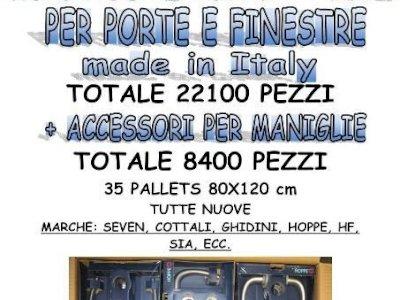 Stock in ottone per porte e finestre Made in Italy totale 22.100