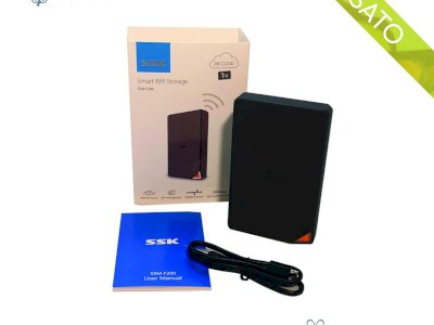 "HDD Hard Disk Esterno Smart Wifi Storage 1 Tera SSK SSM-F200 USB 3.0 2.5"""