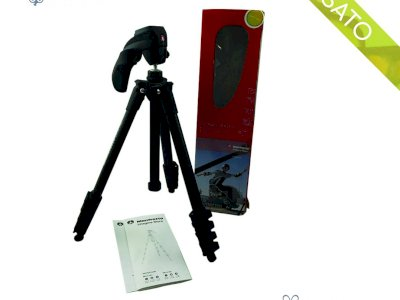 Treppiede Manfrotto Compact Action MKC3-H01 Compact Photo-Movie Kit Black
