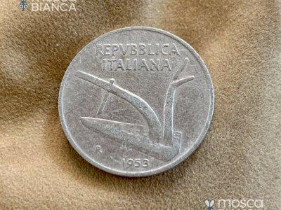 lire 10 MONETA RARA DA 10 LIRE DEL 1953 REPUBBLICA ITALIANA FIOR DI CONIO