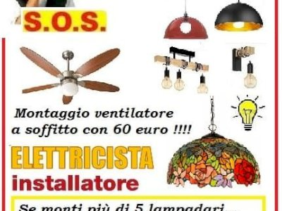 S.O.S montaggio lampadario a Roma con 19 euro