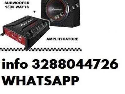 Pioneer gm-a3602 + sub ud-w304r amplificatore + subwoofer da 30