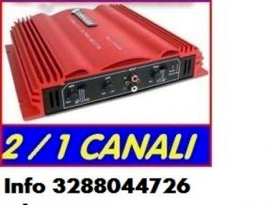 Amplificatore potente auto 1000 watt 2 canali rms