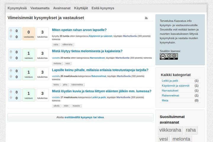 kasvatus.info - yhteisöllisesti rakentuva tietopankki lasten ja nuorten kasvatukseen liittyvälle tiedolle