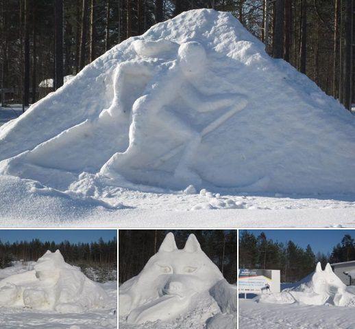 Sinnikkyys auttoi saamaan lumiveistokset