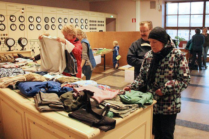Vaatteidenvaihtonurkka