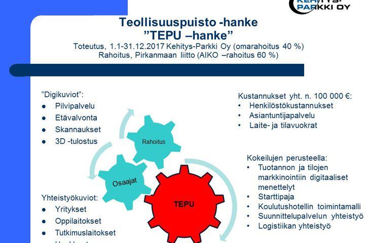 Virtuaali teollisuuspuisto (TEPU -hanke)