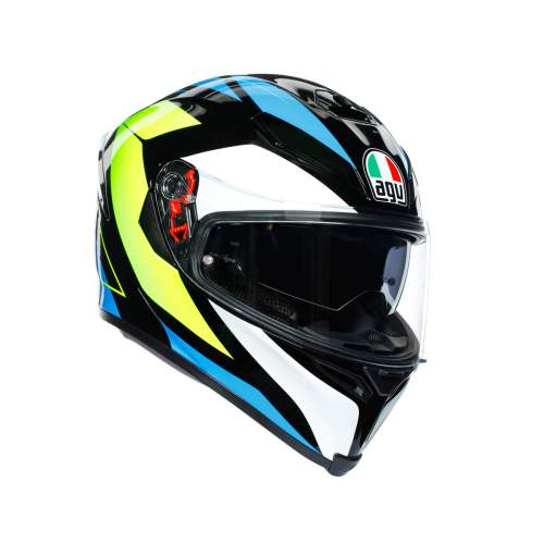 Agv K5 S E2205 Multi Core Black Cyan Yellow Fluo 1