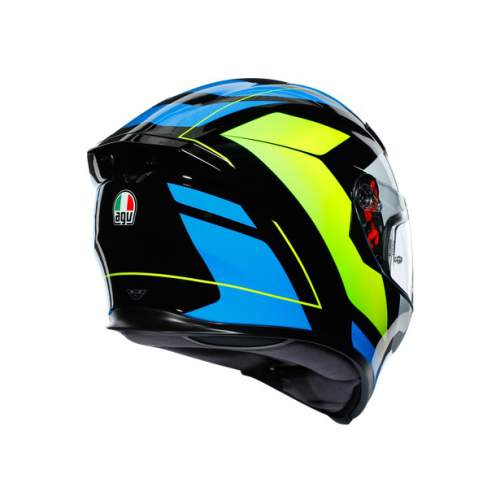 Agv K5 S E2205 Multi Core Black Cyan Yellow Fluo 2