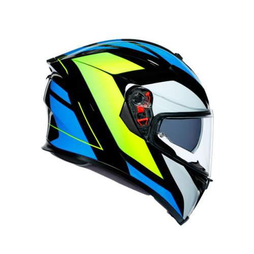 Agv K5 S E2205 Multi Core Black Cyan Yellow Fluo 3