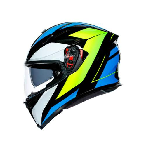 Agv K5 S E2205 Multi Core Black Cyan Yellow Fluo 6