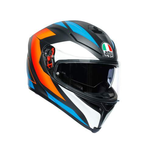 Agv K5 S E2205 Multi Core Matt Black Blue Orange 1