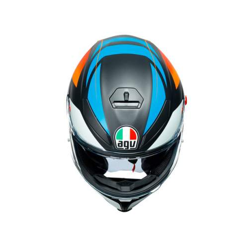Agv K5 S E2205 Multi Core Matt Black Blue Orange 2