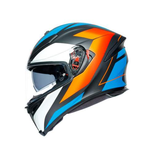 Agv K5 S E2205 Multi Core Matt Black Blue Orange 4