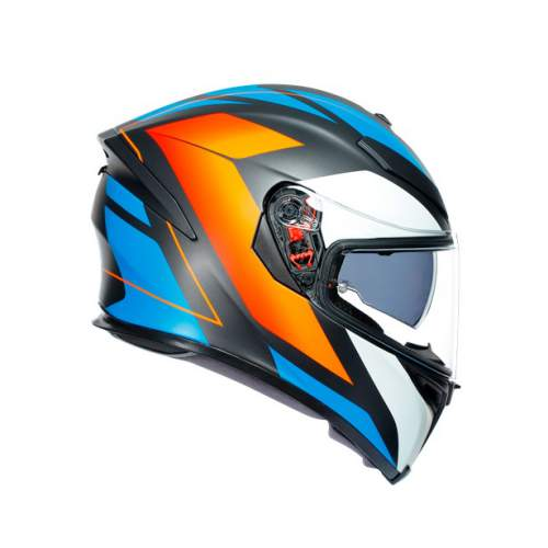 Agv K5 S E2205 Multi Core Matt Black Blue Orange 5