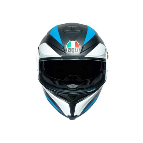Agv K5 S E2205 Multi Core Matt Black Blue Orange 6
