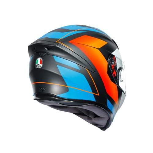 Agv K5 S E2205 Multi Core Matt Black Blue Orange 7