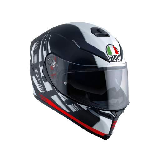 Agv K5 S E2205 Multi Darkstorm Matt Black Red 1