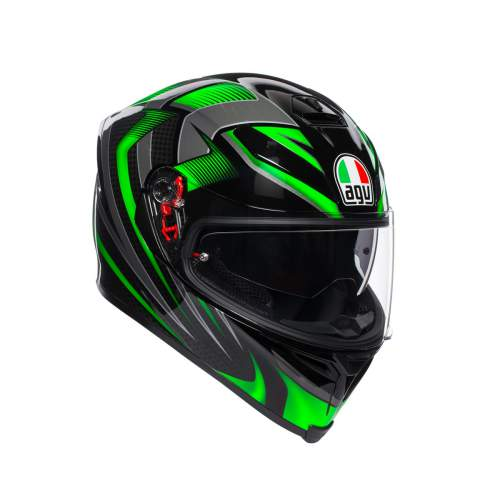 Agv K5 S E2205 Multi Hurricane 2 Black Green 1