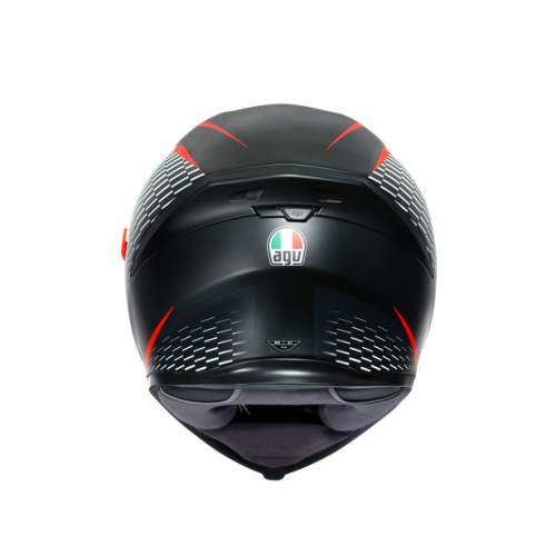 Agv K5 S E2205 Multi Thunder Matt Black White Red 1
