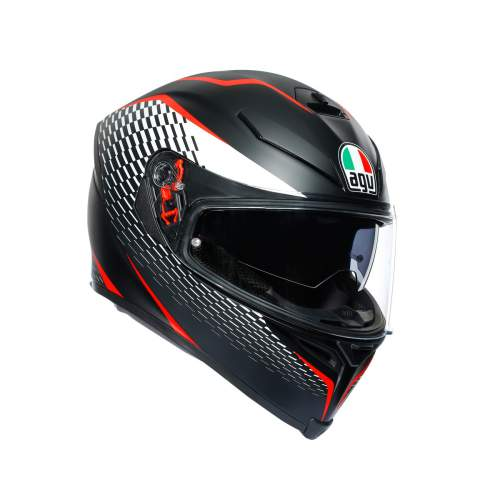 Agv K5 S E2205 Multi Thunder Matt Black White Red 2