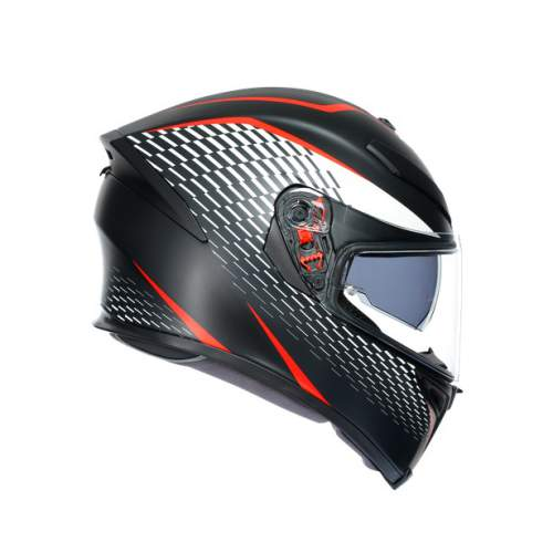 Agv K5 S E2205 Multi Thunder Matt Black White Red 3