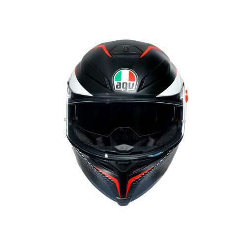 Agv K5 S E2205 Multi Thunder Matt Black White Red 5