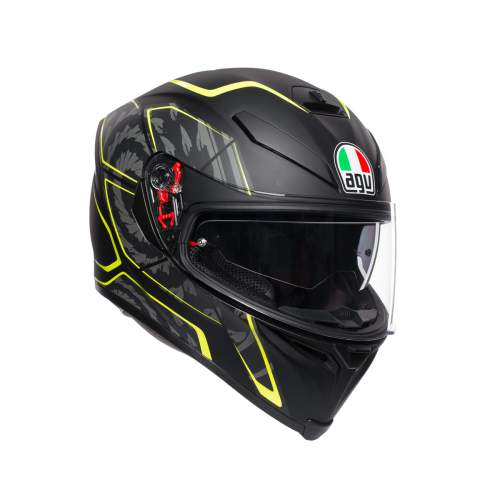 Agv K5 S E2205 Multi Tornado Matt Black Yellow Fluo 1