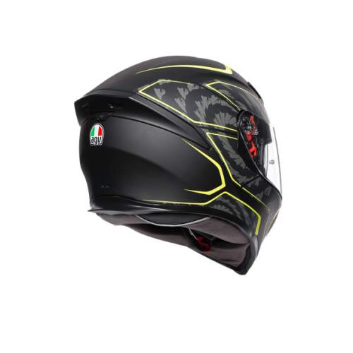 Agv K5 S E2205 Multi Tornado Matt Black Yellow Fluo 3