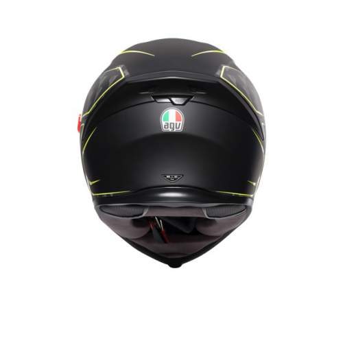 Agv K5 S E2205 Multi Tornado Matt Black Yellow Fluo 4
