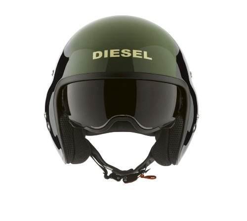Agv Casco Moto Vintage Hi Jack Diesel Nero Verde 1